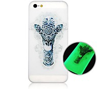 For iPhone 5 Case Glow in the Dark Case Back Cover Case Animal Hard PC iPhone SE/5s/5