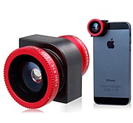 Three-in-One Lens multifunzionale per iPhone 5S / 5 (Red)