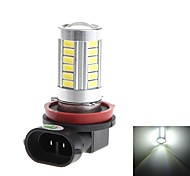 HJ  H8 8W 800lm 6000-6500K 33*SMD 5730  Bulb for Car Fog Light (DC 12-24V)