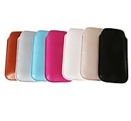 сплошной цвет блестящие искусственная кожа курил тянуть сумку для iPhone 5/5s/5c (разных цветов)