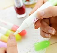Nail Art Инструмент ногтей Удаление Ручка с 4 Советы (случайный цвет)
