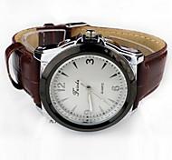 Men's Fashion Personalized Generous Waterproof Luminous Leather Wrist Watch