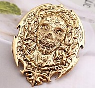 European  4cm Unisex  Skinning People  Alloy Brooc(Gold,Silver)(1 Pc)