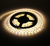 Waterproof 5M 60W 60x5730SMD 7000-8000LM  3000-3500K Warm White light LED Strip Light (DC12V)