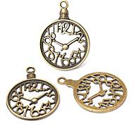 belles accessoris Hollowout chiffre horloge bronze de bijoux d'alliage de cru (10pcs)