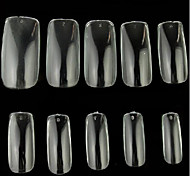 10x10PCS Mixs Size Transparent Full Nail Art Tips