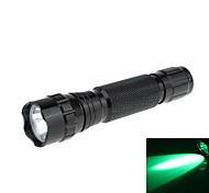 Zweihnder Wasserdicht 1-Modus 1xCree XP-G R5 Green Light LED-Taschenlampe (180LM, 1x18650, Schwarz)