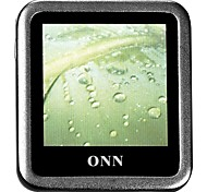 "ONN Q6 Ultra-Slim MP3 Player 1.5 ""schermo con registrazione FM-Silver (4GB)"