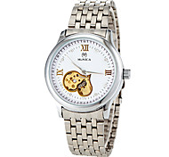 Women's Auto-Mechanical Hollow Heart Dial Silver Steel Band Wrist Watch (Assorted Colors) Cool Watches Unique Watches