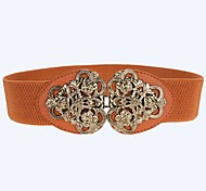 Women Wide Belt , Vintage Alloy