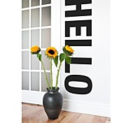 jiubai ™ palavra grande Olá a arte de decoração para casa adesivos de parede decalque da parede, 43 * 152 centímetros