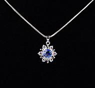 Blue Rhinestone Snowflake Pendant(Pendant Only)