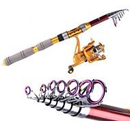 2.4M carbono Mar Vermelho Pesca Medium Light Fishing Rod