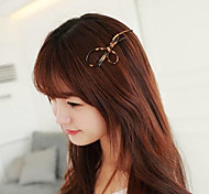 Stylish Leopard Print Hairpin In Bowknot Design