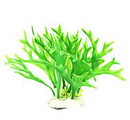 12cm Plantas Simulación verdes para el tanque de pescados de la decoración