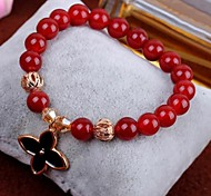Fashion (Herb) Red aAgate Bracelet (Red) (1 PC)