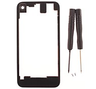 Transparent Glass Battery Cover for iPhone 4 with Screw and Screw Driver (Assorted Colors)
