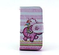 Run of The Elephant Pattern Full Body Case with Stand for iPhone 4/4S