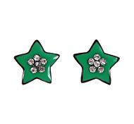 Classic Multicolor Star Shape Stud Earrings Random Color (1 Pair)