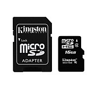 Kingston 16GB microSDHC Class 4 Flash Memory Card with SD Adapter