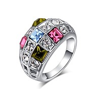 Gorgeous Fashion Jewelry Silver plated with Crystal Rings (one piece)