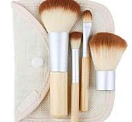 4pcs venda quente Earth-Friendly bambu elaborada maquiagem jogo de escova