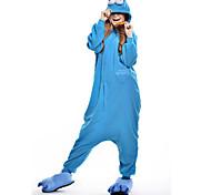 Kigurumi Pijamas New Cosplay® / Monster / Desenhos Animados Malha Collant/Pijama Macacão Festival/Celebração Pijamas Animal Azul