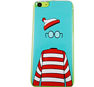 A Beautiful Hat Glasses Clothes Pattern PC Back Case for iPhone 5C