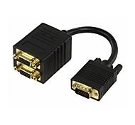 0,15 M Cable divisor VGA - 2 x VGA chapados en oro de Envío Gratis