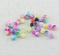 z&x® Perles de bricolage perles matérielles erronées couleur 8mmx8mm 100 pcs (couleur aléatoire, motif)