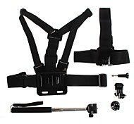 YuanBoTong  Chest Strap with Headband and Self-rodfor and Base for Gopro