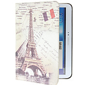Retro Eiffel Tower Pattern PU Leather Face with PC Cover Full Body Case for Samsung Galaxy Tab 4 10.1 T530