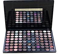 88 Palette Fard à paupières Sec Mat Lueur Matériel Palette Fard à paupières Poudre Grand Maquillage Smoky-Eye Maquillage de Fête