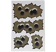 Motorcycle Stickers Bullet Holes