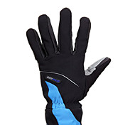 KORAMAN Black and Blue Nylon Warm-Keeping Full Finger Cycling Gloves
