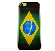 Vintage Brazil Flag Pattern PC Back Case for iPhone 5C