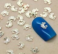 200PCS Flower Lace Shape Slice Golden Metal Nail Art Decoration