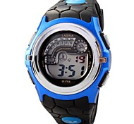 Children Round Dial LED Digital Multifunction Sports Wrist Watch 50m Waterproof (Assorted Colors)