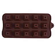 Silicone 15 Even Pyramid Shape Chocolate Mold,21.5x10.5x2cm