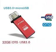 J-like USB 3.0 / Micro USB OTG  32G  for OTG Smartphones and PCs