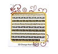 Luxury Golden Metal Nail  Art Stickers For Nail  Salon Manicure 3D