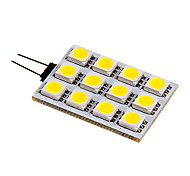 3W G4 Luces LED de Doble Pin 12 SMD 5050 120-130 lm Blanco Cálido / Blanco Fresco DC 12 V