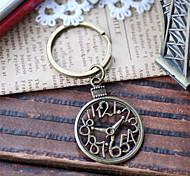 Vintage Ancient Clock Bronze Alloy Keychain(1 Pc)
