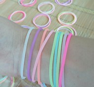 (3PC) Beautiful Fashion Fluorescent Color Can Stretch Silicone Bracelet (Color Random)