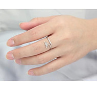 Valentine's Day Gift S925 Silver Ring 1 pc (Unisex)