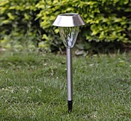 1-LED Whte Solar stainless steel garden light spike mounted Lamp