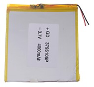 "Sostituzione universale 3.7V 4000mAh Li-polymer Batteria per 7 ~ 10 ""Sony Tablet PC Macbook Samsung Acer Apple (37 * 95 * 105)"
