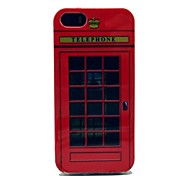 Classical Telephone Booth Pattern Silicone Soft Case for iPhone5