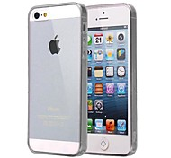 CaseBox® Ultrathin Transparent Silicone Back Case for iPhone4/4S (Assorted Color)
