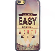 Not Easy but Worth Design Aluminium Hard Case for iPhone 5C